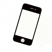 előlap üveg iPhone 4 fekete !AKCIÓS!