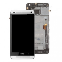 LCD HTC M4\ M7 mini + keret fehér !AKCIÓS!