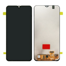 LCD Samsung A205 A20 2019 fekete ORG GH82-19571A