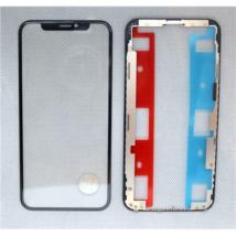 előlap üveg + keret + OCA iPhone XS fekete