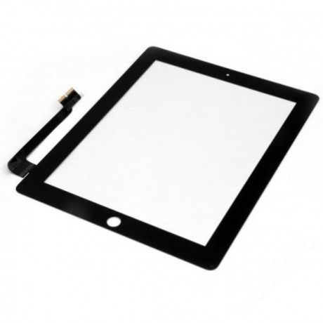 előlap iPad 3 - iPad 4 fekete AAA