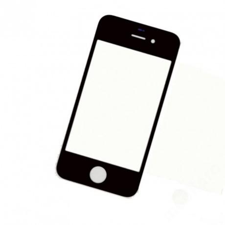 előlap üveg iPhone 4S fekete !AKCIÓS!