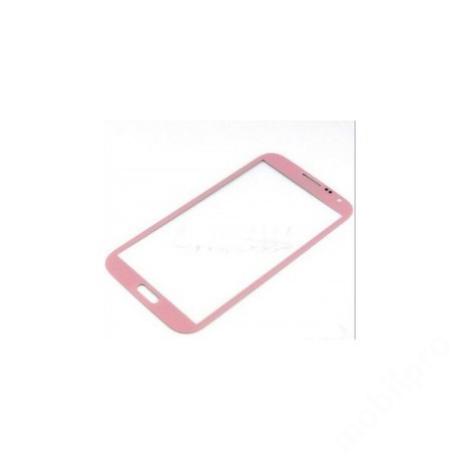 előlap üveg Samsung Note 2 rózsaszín !AKCIÓS!