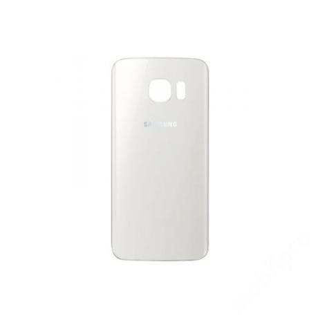 hátlap Samsung G925 S6 Edge fehér ORG GH82-09602B !AKCIÓS!