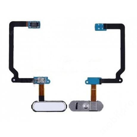 homeflex Samsung G900 S5 fehér + gomb !AKCIÓS!