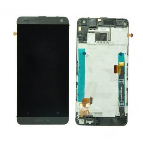 LCD HTC M4\M7 mini  + keret fekete !AKCIÓS!