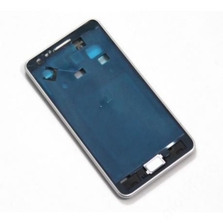 LCD keret Samsung i9100 S2 fehér + gomb !AKCIÓS!
