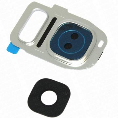 kameralencse üveg Samsung G930 S7 ezüst