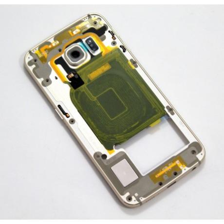 középkeret Samsung G925 S6 Edge arany !AKCIÓS!