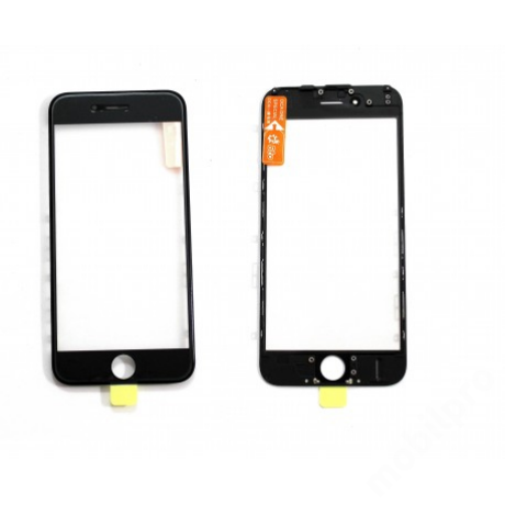előlap üveg + keret + OCA iPhone 6 fekete