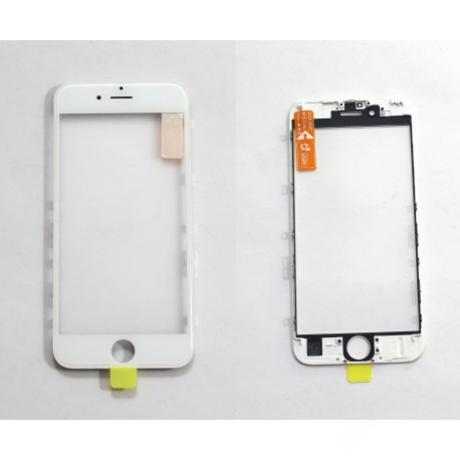 előlap üveg + keret + OCA iPhone 6S fehér