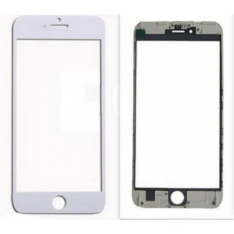előlap üveg + keret + OCA iPhone 6S Plus fehér