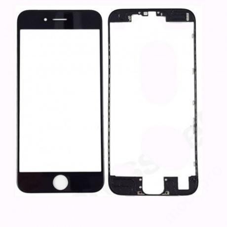előlap üveg + keret iPhone 7 Plus fekete
