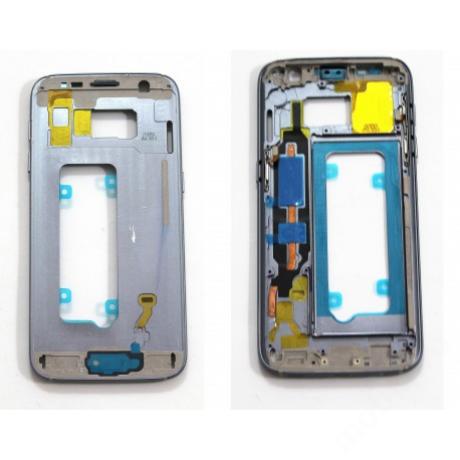 középkeret Samsung G930 S7 fekete !AKCIÓS!