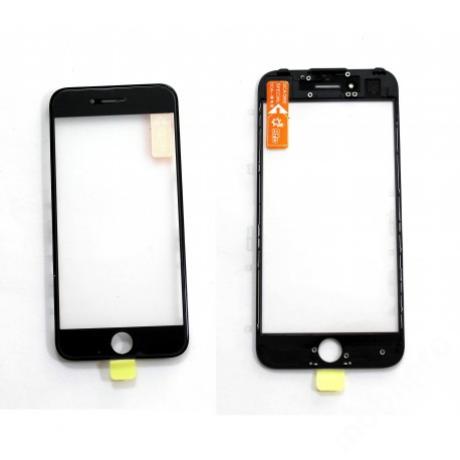 előlap üveg + keret + OCA iPhone 7 fekete