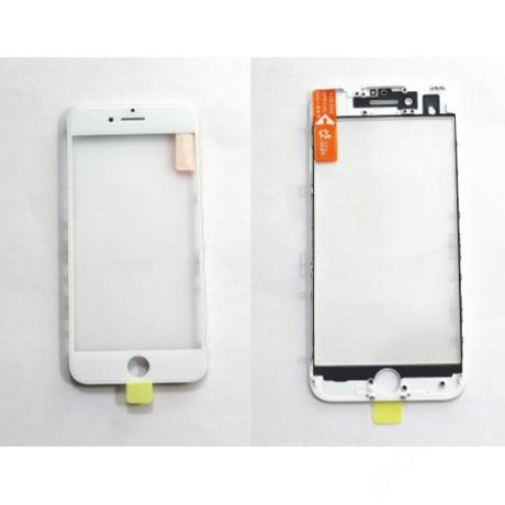 előlap üveg + keret + OCA iPhone 7 fehér