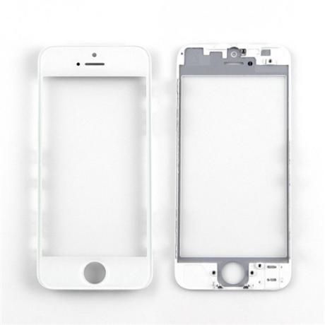 előlap üveg + keret iPhone 5S fehér