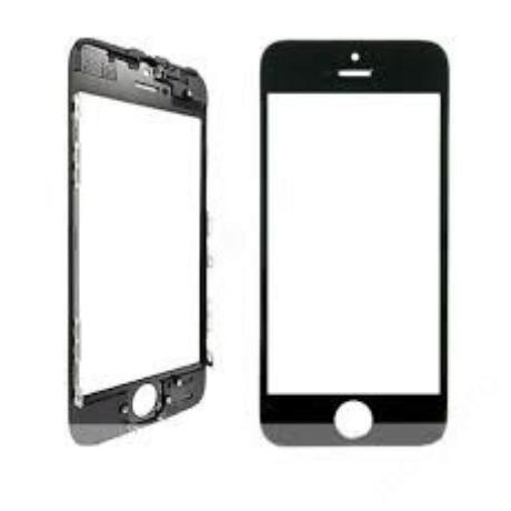 előlap üveg + keret iPhone 5S fekete