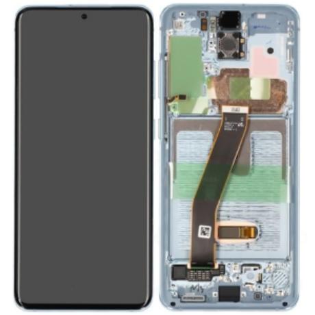 LCD Samsung G980 S20 kék ORG GH82-22131D