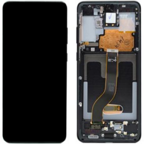 LCD Samsung G985 S20 Plus fekete ORG GH82-22145A