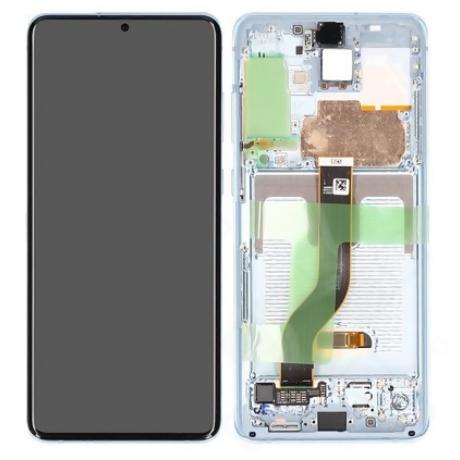 LCD Samsung G985 S20 Plus kék ORG GH82-22145D
