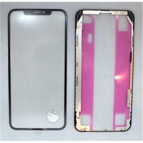 előlap üveg + keret + OCA iPhone XS Max fekete