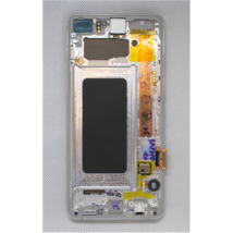 LCD Kijelző Samsung G975 S10 Plus fehér ORG GH82-18849B GH82-18834B