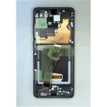 LCD kijelző Samsung G988 S20 Ultra fekete ORG GH82-26032A GH82-24925A