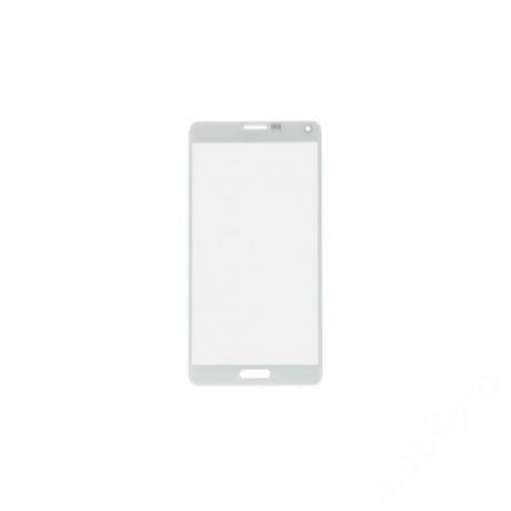 előlap üveg Samsung Note 4 fehér !AKCIÓS!