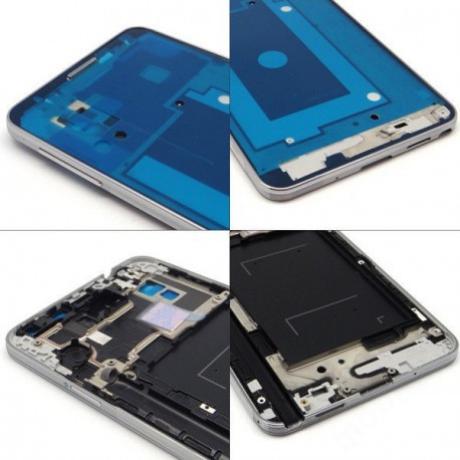 LCD keret Samsung N9005 Note 3 fehér + gomb !AKCIÓS!