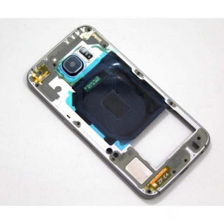 középkeret Samsung G920 S6 fekete !AKCIÓS!