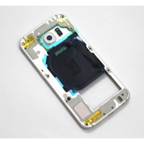 középkeret Samsung G920 S6 fehér !AKCIÓS!
