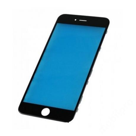 előlap üveg + keret iPhone 6S Plus fekete !AKCIÓS!
