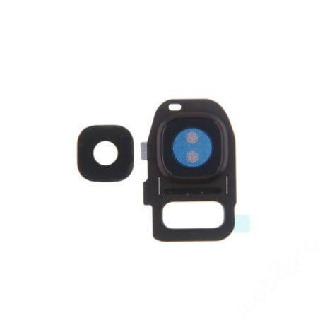 kameralencse üveg Samsung G935 S7 Edge fekete