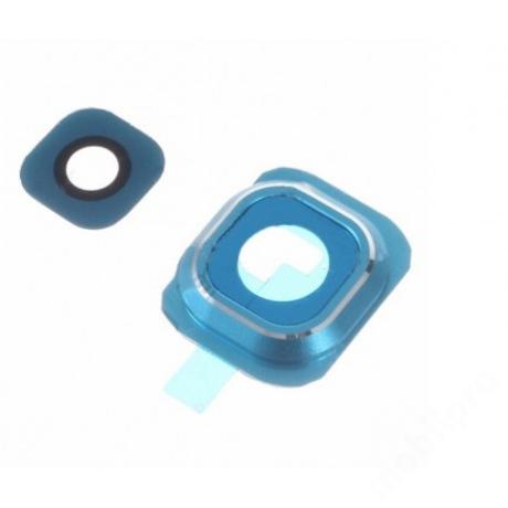 kameralencse üveg Samsung G920 S6 kék