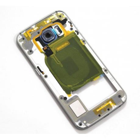 középkeret Samsung G925 S6 Edge fekete !AKCIÓS!
