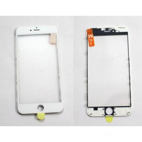 előlap üveg + keret + OCA iPhone 6 Plus fehér