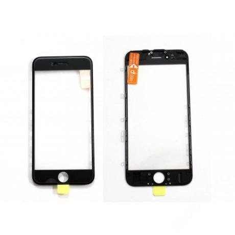 előlap üveg + keret + OCA iPhone 6S fekete !AKCIÓS!