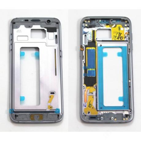 középkeret Samsung G935 S7 Edge fekete !AKCIÓS!
