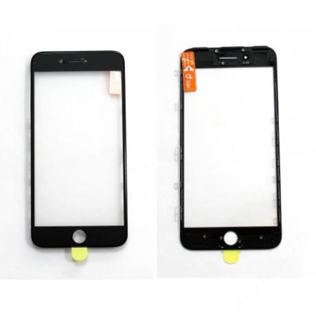 előlap üveg + keret + OCA iPhone 7 Plus fekete