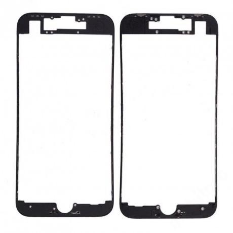 előlap üveg + keret iPhone 8 Plus fekete