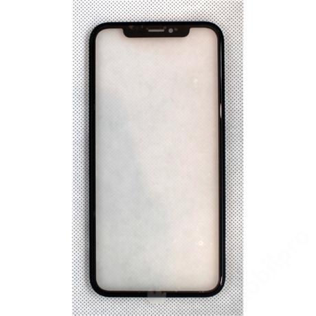 előlap üveg + keret + OCA iPhone XR fekete