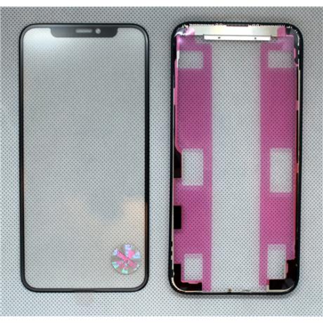 előlap üveg + keret + OCA iPhone 11 Pro fekete